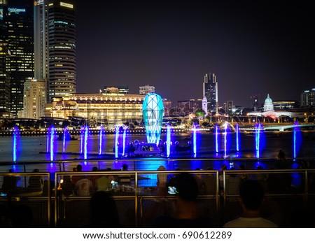 singapore marina bay light show times spectra the mbs light show