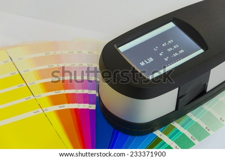 Spectrophotometer, Exact Print Measuring Tool - stock photo