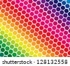 Spectrum colors in geometric blocks. Editable vector in portfolio. - stock vector