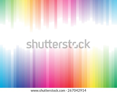 Spectrum stripes horizontal background with white copy space. - stock photo
