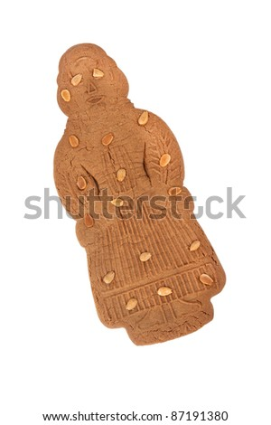 """speculaas doll for typical dutch """"sinterklaas"""" party - stock photo"""