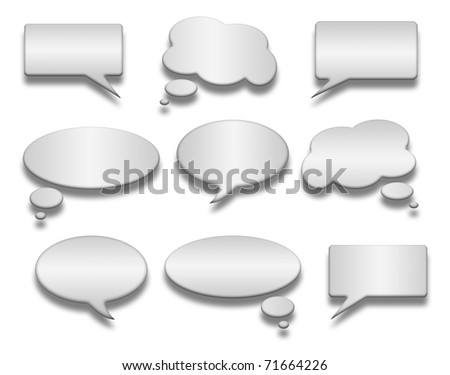 Speech And Thought Bubbles With Space For Text - stock photo