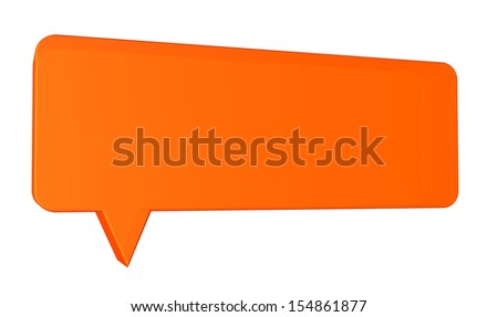 Speech balloon on white background