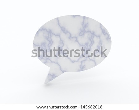 speech baloon on white background isolated - stock photo