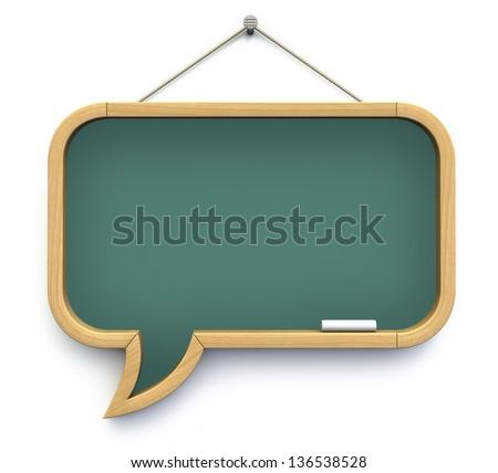 Speech bubble - chalkboard - stock photo
