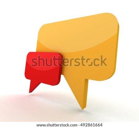 speech bubble concept   3d illustration