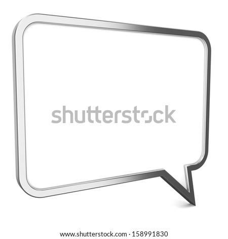 Speech bubble. 3d illustration on white background - stock photo
