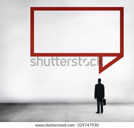 Speech Bubble Discussion Talking Symbol Concept - stock photo