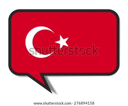 Speech Bubble Flag Concept. Isolated on white background.