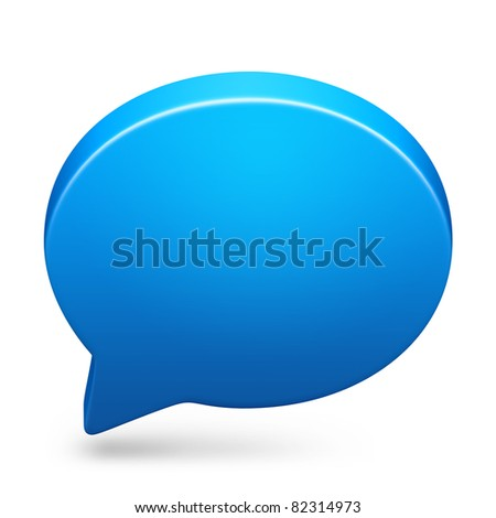 Speech bubble icon in icon on isolated white background. - stock photo