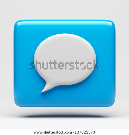 Speech Bubble Icon with clipping path