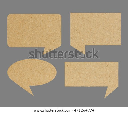 speech bubble recycled paper