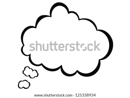 Speech bubble thought - stock photo