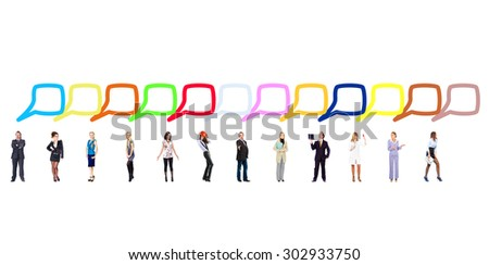 Speech Bubbles Business Picture