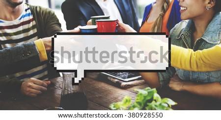 Speech Bubbles Conversation Communication Concept - stock photo