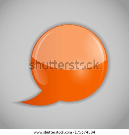 Speech bubbles  illustration - stock photo