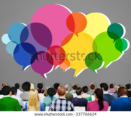 Speech Bubbles Message Concept Symbol Communication Idea Concept