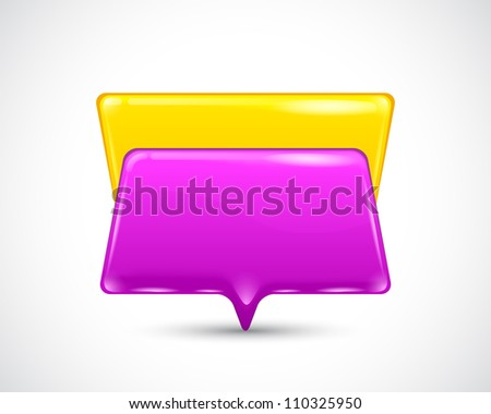 speech bubbles on the white background - stock photo