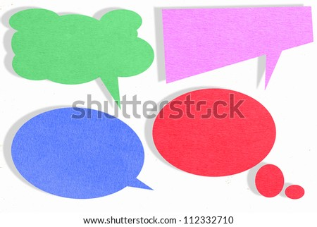 Speech bubbles set - stock photo