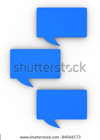 Speech bubbles - this is 3d render - stock photo