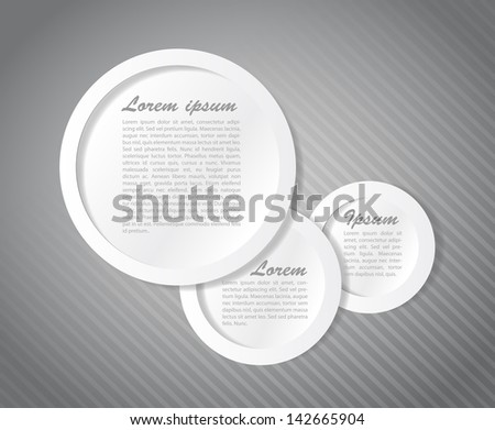 Speech text bubbles illustration design graphic template - stock photo