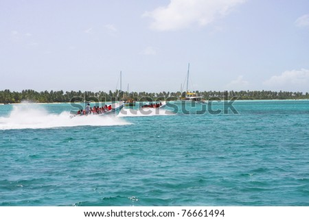 speed boats the dominican sea