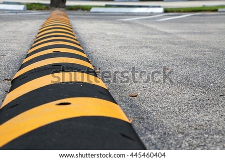Speed Bump - stock photo