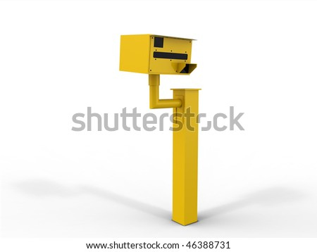 Speed Camera Isolated - stock photo