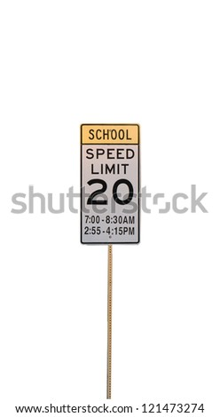 Speed Limit at School Zone - stock photo