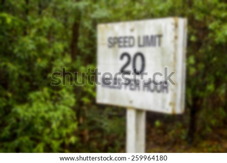 Speed limit sign in Blur style - stock photo