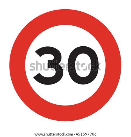 speed limit sign speed limit 30のイラスト素材 451597906 shutterstock