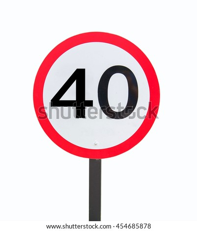 Speed Limits 40 kilometers per hour on a white background.