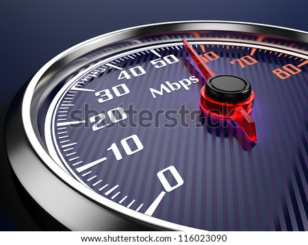 Speed of  internet connection - stock photo