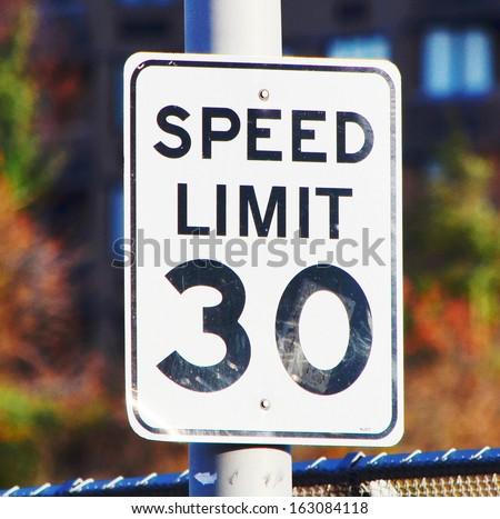 speed sign - stock photo
