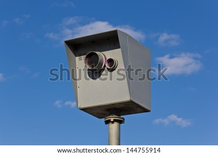 speed trap - stock photo