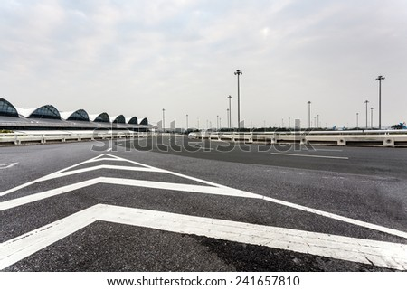 speeding on freeway, blurred motion. - stock photo