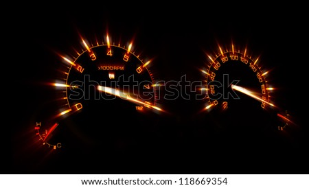 Speedometer - stock photo