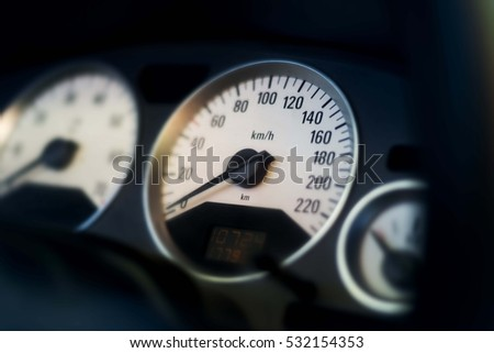 speedometer car enterior