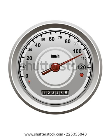 Speedometer icon from a car or vehicle isolated on white