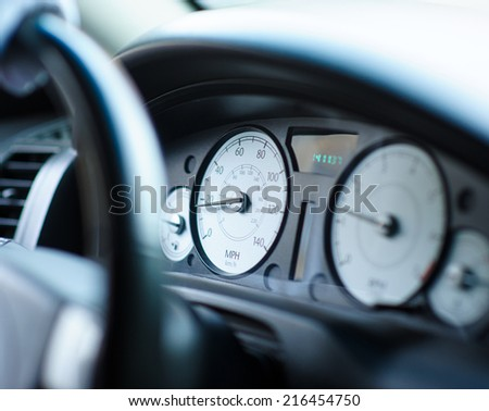 speedometer in the car - stock photo