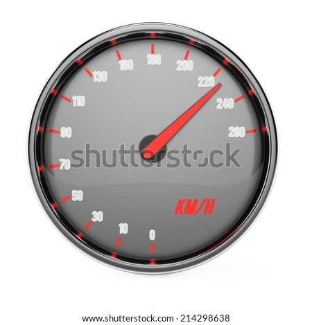 Speedometer isolated on white background. 3d rendering image