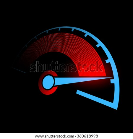 Speedometer of the car. Stock illustration. - stock photo