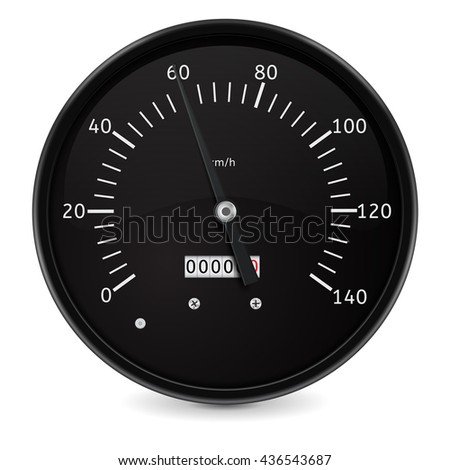 Speedometer. Speed gauge. Illustration isolated on white background. Raster version