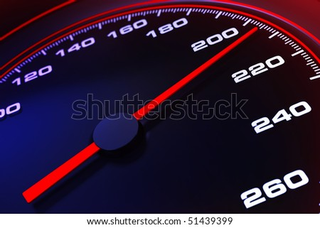 Speedometer up and close