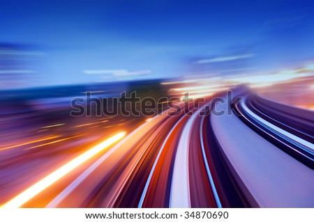speedway. - stock photo