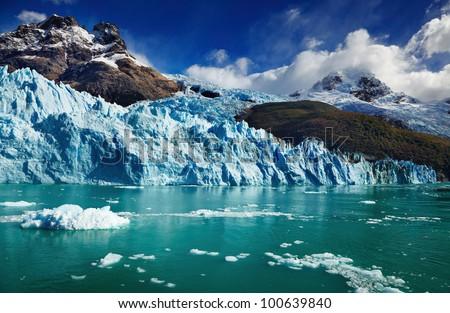 Spegazzini Glacier, Argentino Lake, Patagonia, Argentina - stock photo