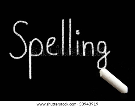 spelling - stock photo