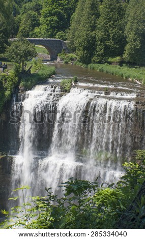 Spencer Gorge/Webster's Falls, Conservation in Hamilton, Canada - stock photo