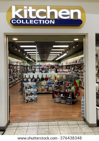 SPENCER , WISCONSIN, February,14,, 2016    Kitchen Connection store in a retail mall - stock photo