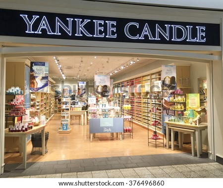 SPENCER , WISCONSIN, February,13,, 2016   Yankee Candle Store in a Retail Mall - stock photo